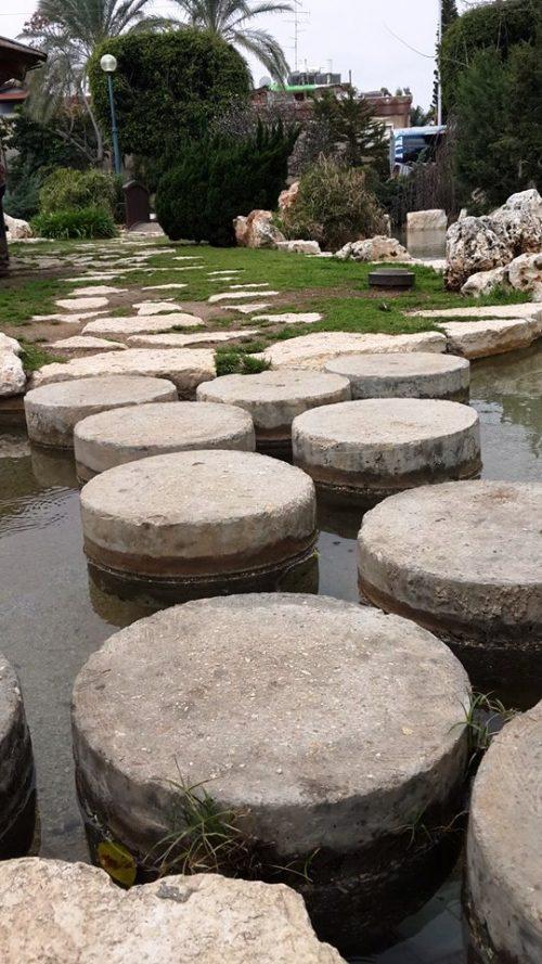 אבני דילוג בגן היפני בחולון